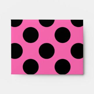 Hot Pink Polka Dots Envelopes