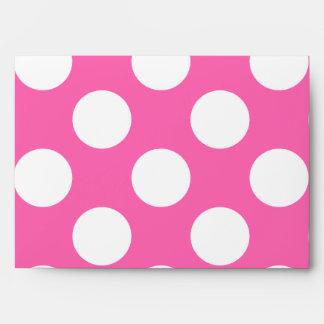 Hot Pink Polka Dots Envelope