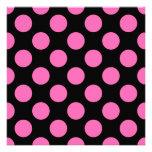 Hot Pink Polka Dots Invite