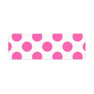 Hot Pink Polka Dots Label