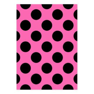 Hot Pink Polka Dots Large Business Card