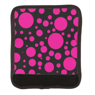 Hot Pink Polka Dots Luggage Handle Wrap