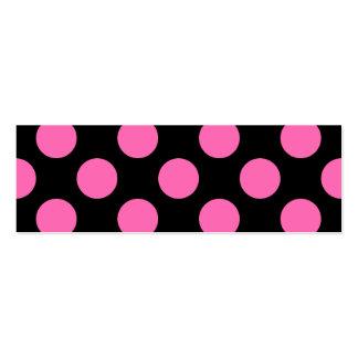 Hot Pink Polka Dots Mini Business Card