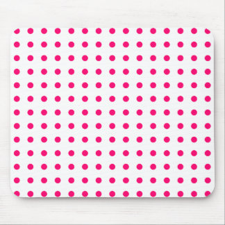 Hot Pink Polka Dots Mouse Pad