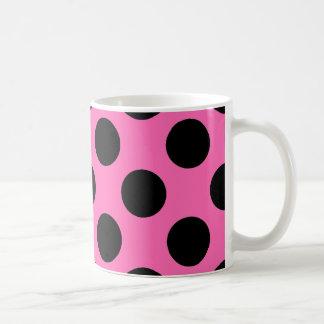 Hot Pink Polka Dots Classic White Coffee Mug