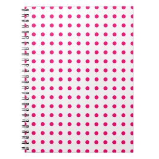 Hot Pink Polka Dots Notebook