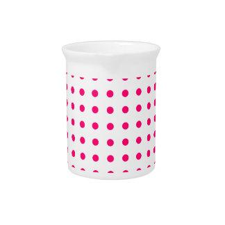 Hot Pink Polka Dots Pitcher