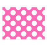 Hot Pink Polka Dots Postcards