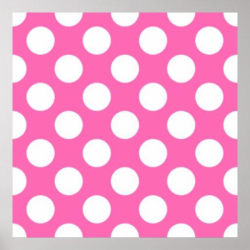 Hot Pink Polka Dots Poster