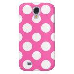 Hot Pink Polka Dots Samsung Galaxy S4 Cases