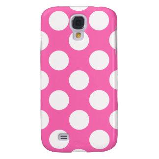 Hot Pink Polka Dots Samsung Galaxy S4 Cover