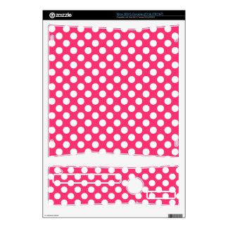 Hot Pink Polka Dots Xbox 360 S Console Skin