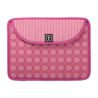 Hot Pink Polka Dots Sleeve for MacBooks