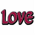 Hot Pink Polkadot Love Photo Cut Out