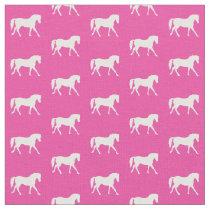 Hot Pink Pony Fabric, Bright Pony Fabric, Horse Fabric