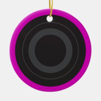Hot Pink Pop Art Roller Derby Wheel Ceramic Ornament