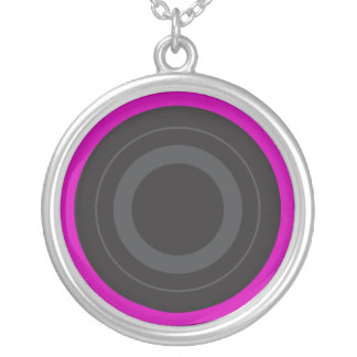 Hot Pink Pop Art Roller Derby Wheel Personalized Necklace