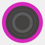 Hot Pink Pop Art Roller Derby Wheel Round Stickers