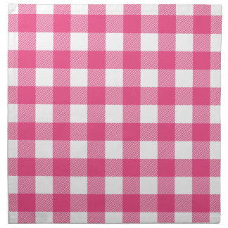 Hot Pink Preppy Buffalo Check Plaid Cloth Napkin