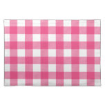 Hot Pink Preppy Buffalo Check Plaid Cloth Placemat