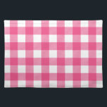 "Hot Pink Preppy Buffalo Check Plaid Placemat<br><div class=""desc"">Preppy Buffalo Check Plaid Country Gingham Checkered Pattern</div>"
