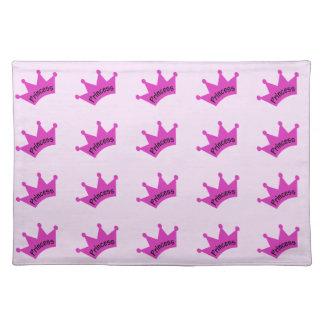 Hot Pink Princess Crown Cloth Placemat