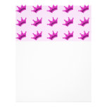 Hot Pink Princess Crown Customized Letterhead