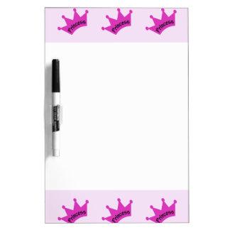 Hot Pink Princess Crown Dry Erase Whiteboards