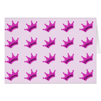 Hot Pink Princess Crown Greeting Card