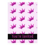 Hot Pink Princess Crown Invite