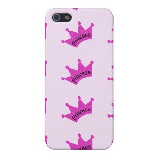 Hot Pink Princess Crown iPhone 5/5S Case