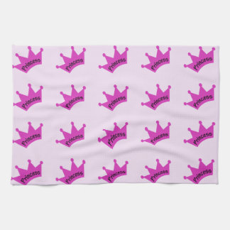 Hot Pink Princess Crown Kitchen Towel