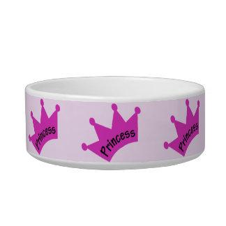 Hot Pink Princess Crown Pet Food Bowl