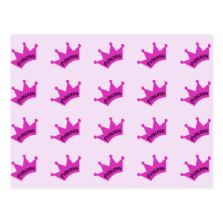 Hot Pink Princess Crown Postcard