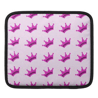 Hot Pink Princess Crown Sleeve For iPads