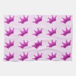 Hot Pink Princess Crown Towel