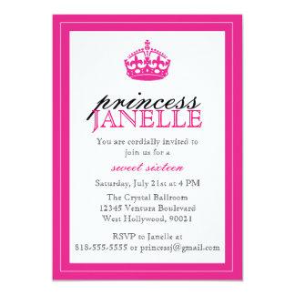 Hot Pink Princess - Sweet 16 Invitation