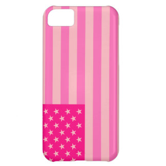 Hot Pink Proud and Patriotic USA Flag Case Case For iPhone 5C