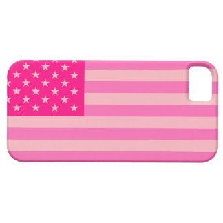 Hot Pink Proud and Patriotic USA Flag Case iPhone 5 Cases