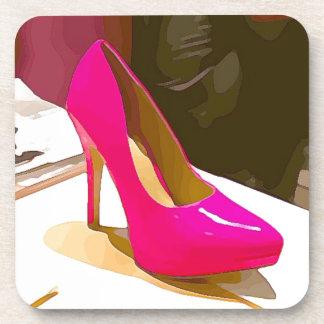 Hot Pink Pump Coaster