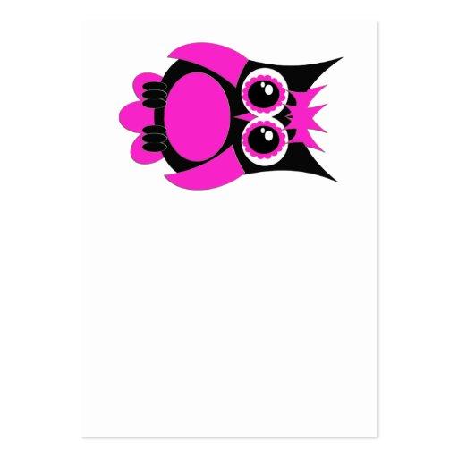 Hot Pink Punk Owl Business Card
