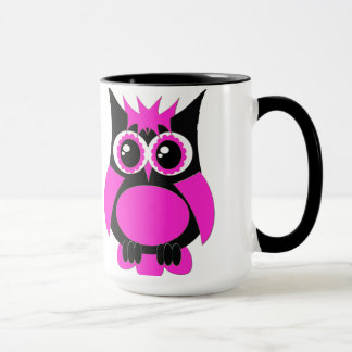 Hot Pink Punk Owl Mug