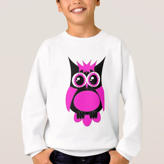 Hot Pink Punk Owl Sweatshirt