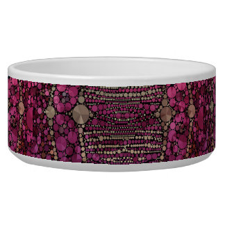 Hot Pink Purple Bling Abstract Bowl