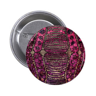 Hot Pink Purple Bling Abstract Button