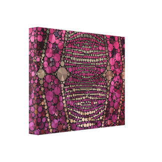 Hot Pink Purple Bling Abstract Canvas Print