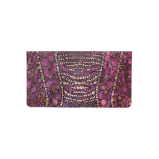 Hot Pink Purple Bling Abstract Checkbook Cover