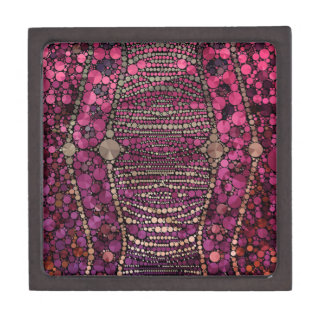 Hot Pink Purple Bling Abstract Gift Box