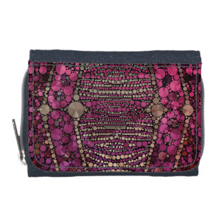 Hot Pink Purple Bling Abstract Wallets