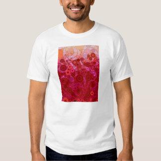 Hot Pink Purple Concentric Circles Mosaic Swirls T-Shirt
